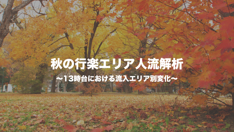 秋の行楽エリア人流解析