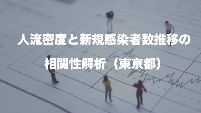 人流密度と新規感染者数推移の相関性解析(東京都)